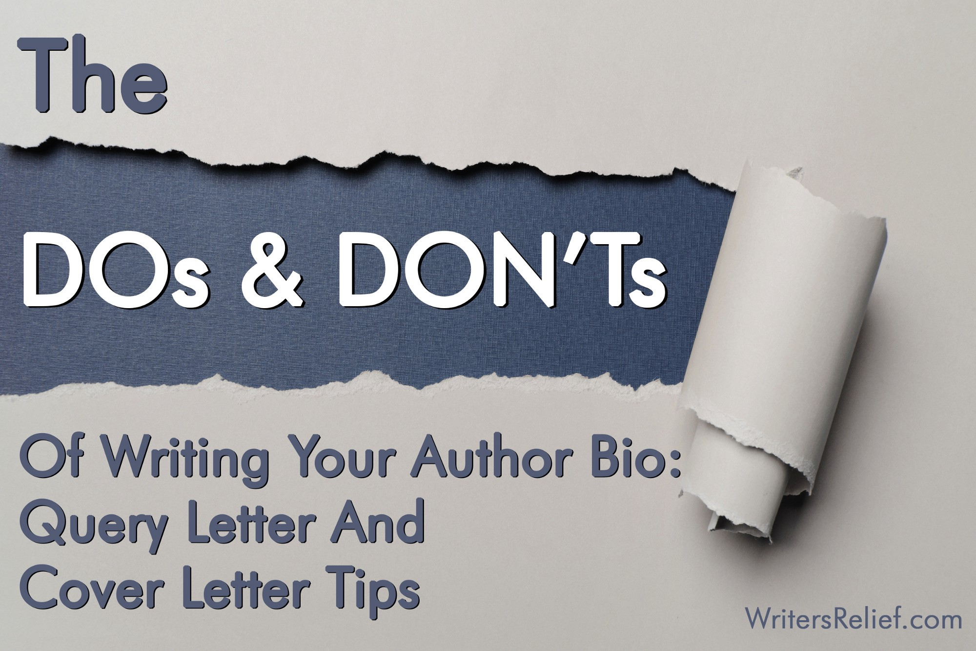 The dos and donts of writing your author bio query letter and the dos and donts of writing your author bio query letter and cover letter tips writers relief spiritdancerdesigns