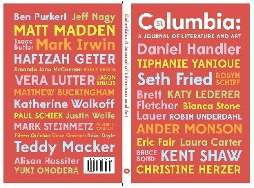 Columbia:Columbia: A Journal of Literature and Art