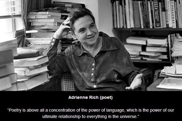adrienne rich poetry and commitment an essay The best price for poetry and commitment an essay in india is rs 347 as per september 28, 2018, 2:56 pm you save 139769% by purchasing it at sapna online for 347 over ebay which sells it for 5197 the prices for is valid in all major cities of india including bangalore, delhi, hyderabad, chennai, mumbai, kolkata and pune.