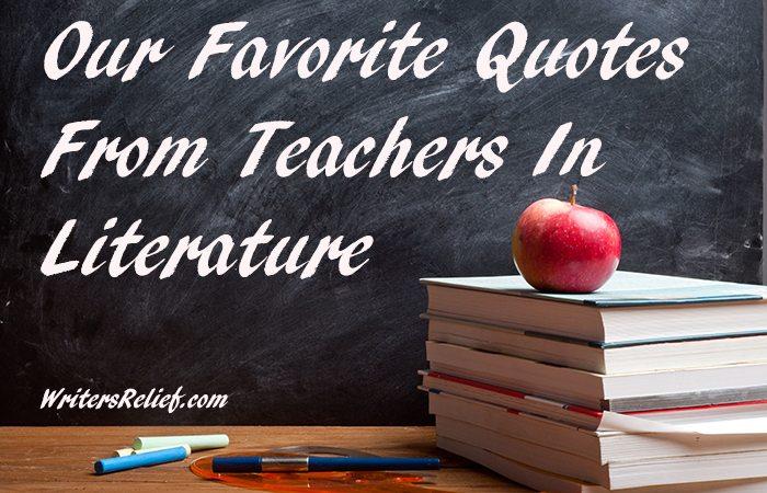 teachers in literature