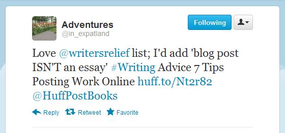 Writer's Relief July Tweet #2