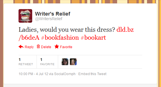 Writer's Relief Tweet #3 for July