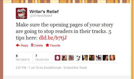 Writer's Relief Tweet #4