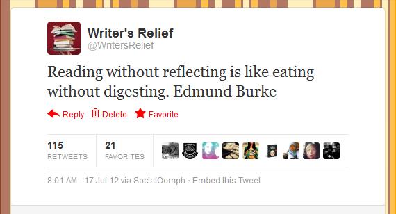 Writer's Relief Tweet #5