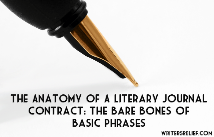 literary journal contract