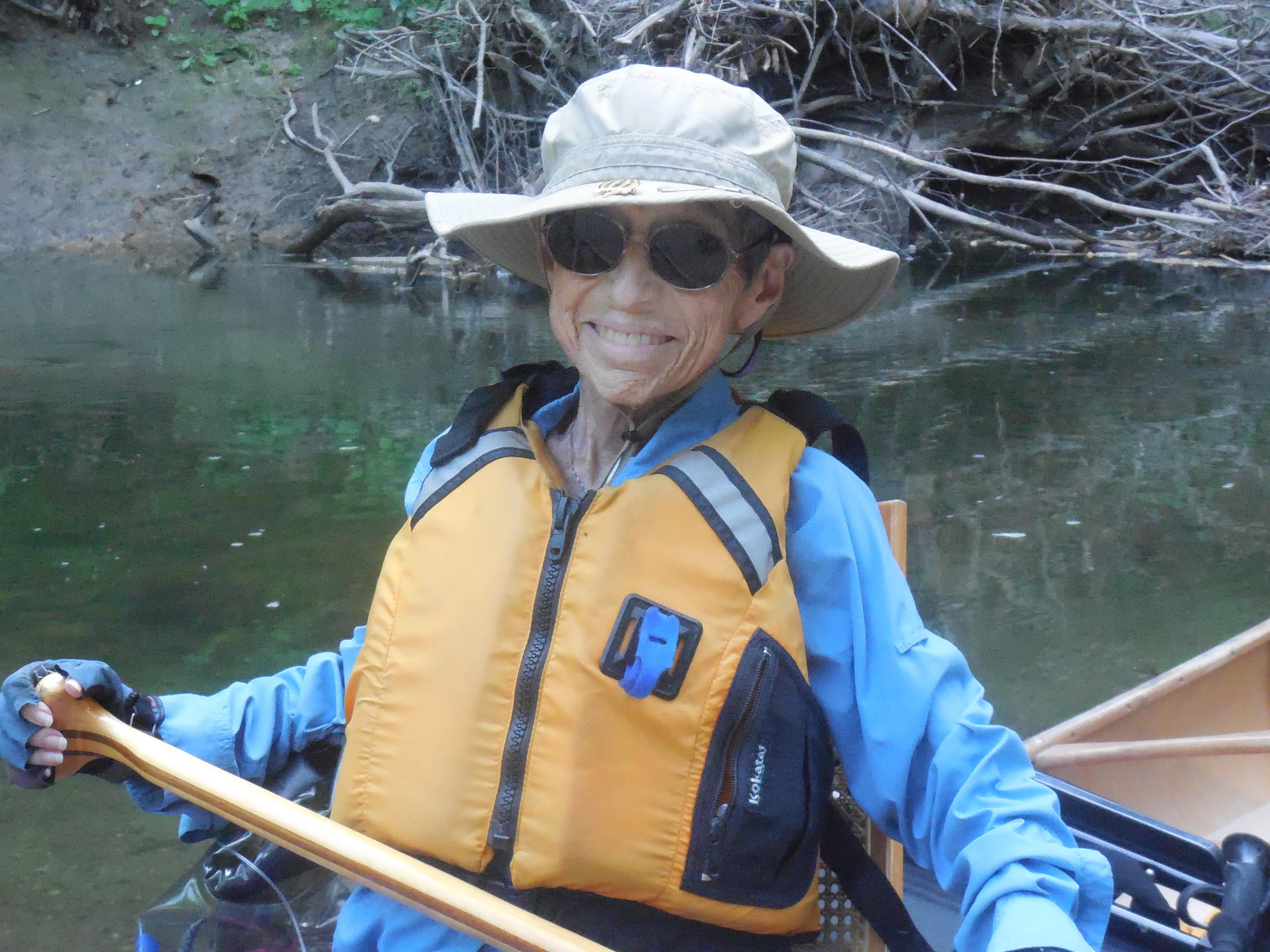 B.J. canoeing ten days before her passing.