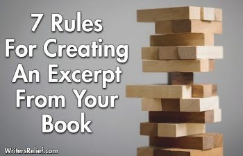 7 Rules For Creating An Excerpt From Your Book