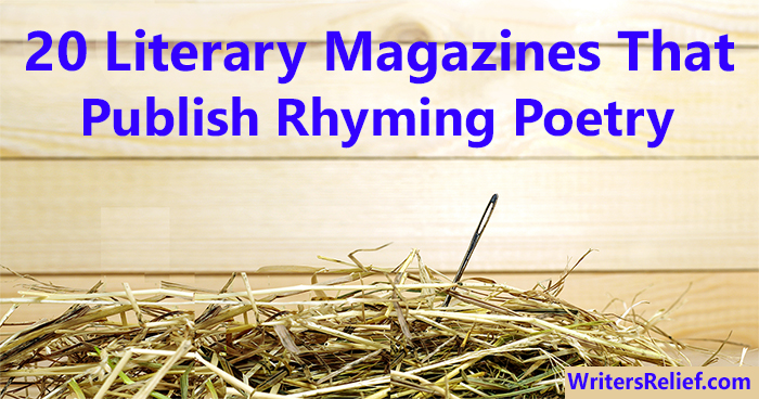 20 Literary Magazines That Publish Rhyming Poetry | Writer's Relief