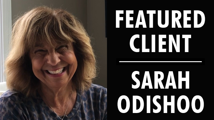 Featured Client: Sarah Odishoo | Writer's Relief