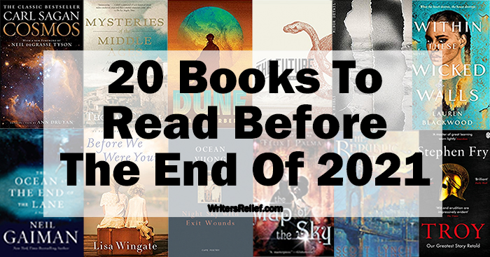 20 Books To Read Before The End Of 2021 | Writer's Relief